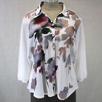 Parsley & Sage Women Plus Size Helen Shirt Jacket Plum Blouse 1x