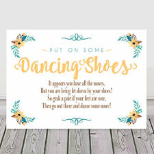 80241e6ae item 2 Yellow Dancing Shoes Tired Feet Wedding Sign for Flip Flop Basket 3  FOR 2 (Y10) -Yellow Dancing Shoes Tired Feet Wedding Sign for Flip Flop  Basket 3 ...
