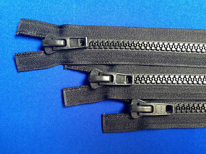 Zip ouvertes YKK plastique non rouille 10 poids chunky solide heavy duty  </span>