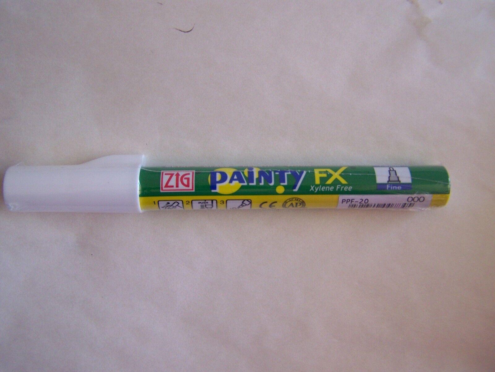 Zig Painty FX Pen Fine Tip Marker White