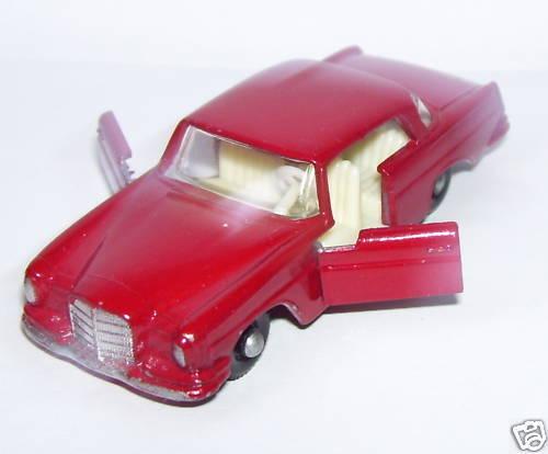 Alte und seltene lesney mercedes benz 220 ist rot, nr.53 1968