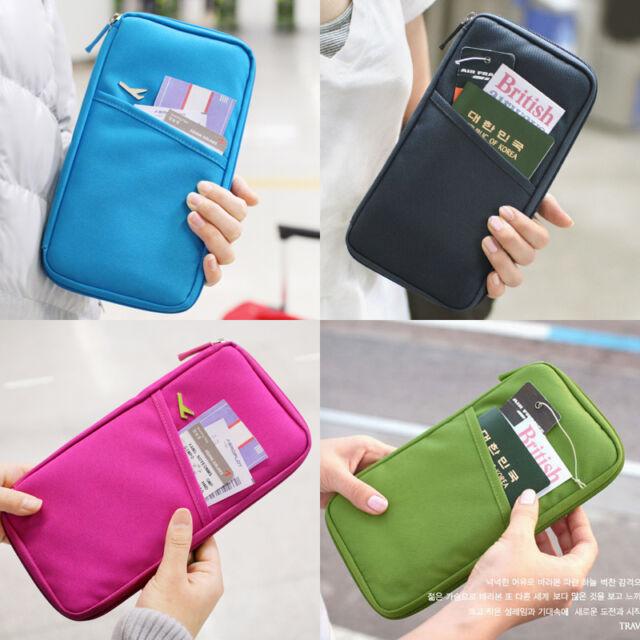 Travel Handy Organizer Pouch Wallet Bag_Money/Passport/Card/Document Holder