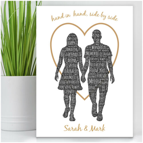 Couples Personalised Anniversary Gifts Her Him Husband Wife Birthday Presents