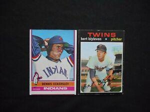 1971-1976-Topps-98-25-Dennis-Eckersley-Bert-Blyleven-Rookie-Card-Lot-2-NICE
