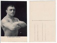 Ringer hourti Colon FORZA SPORT, volte Half nude culturismo wrestler c.1925 gay