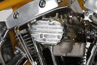 Finned Style Bird Deflector Chrome Cast Bendix Keihin Carburetors Harley