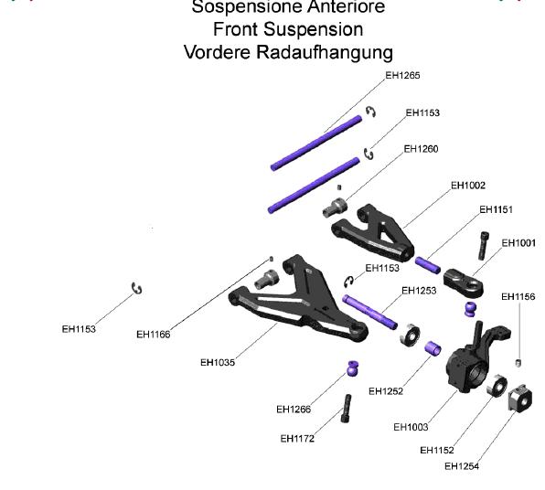 1 5  BERGONZONI  Sospensione anteriore Vintage Racing