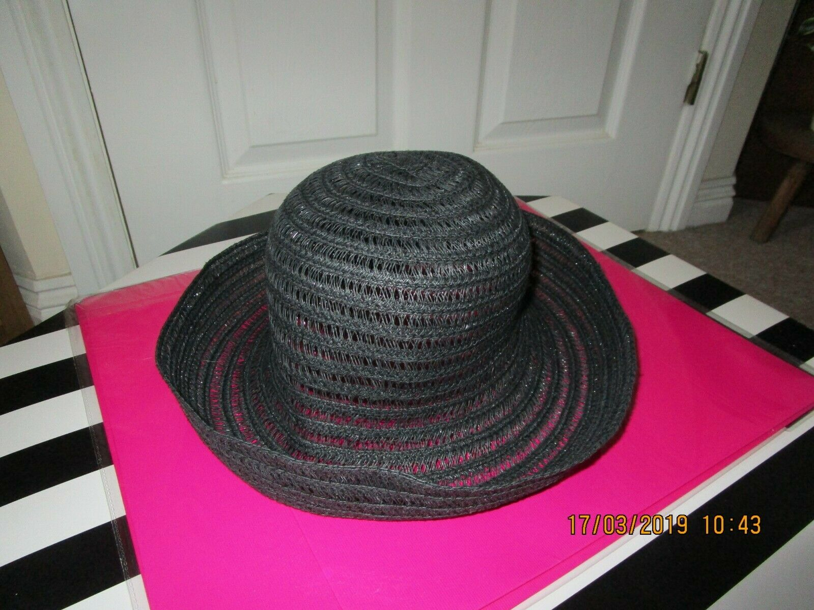 Ladies Straw style Hat Formal Occasion Wedding Races