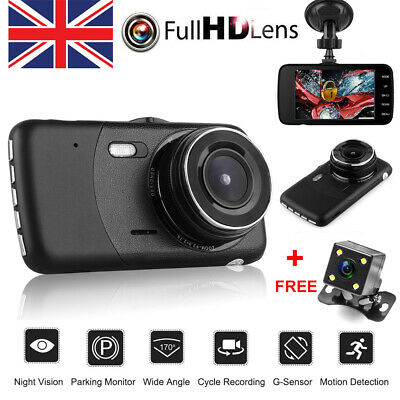 "4/"" Vehicle 1080P HD Car Dashboard DVR Camera Loop Recording Dash Cam G-Sensor"