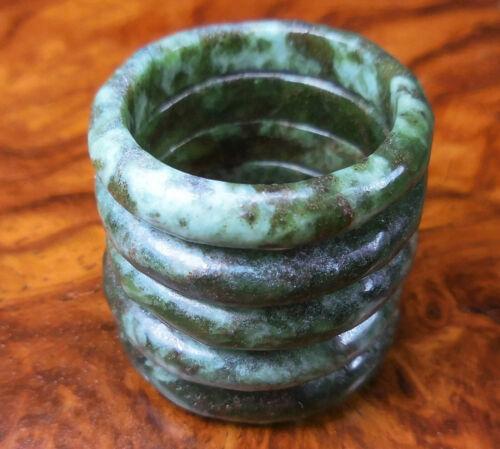 Chrysocolla Ring Green Natural Gemstone Band GG35 Healing Crystals and Stones