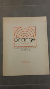Naranja Choregie - Teatro Antiguo Nacional - 1975 - Opera