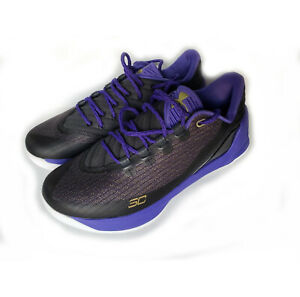check out 822b6 1a812 Details about Men Under Armour Curry 3 Low in Anthracite 1286376-016  Purple/Black Size 10.5