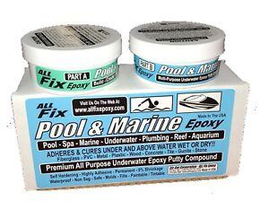 Details about All Fix H20 Underwater EPOXY Putty POOL MARINE Repair Cracks  Leaks Seal Bond