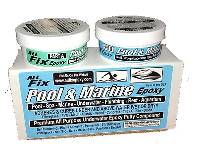 All Fix H20 Underwater EPOXY Putty POOL MARINE Repair Cracks Leaks Seal  Bond | eBay