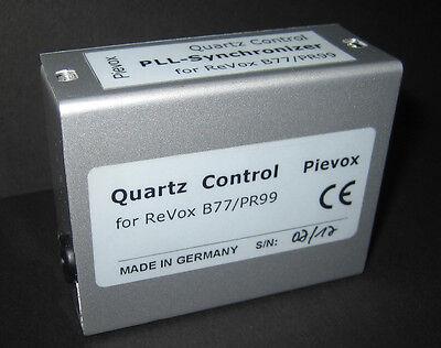 Quarzgenaue Motorregelung >QUARTZ-CONTROL<  für die Revox PR99 (PR 99)