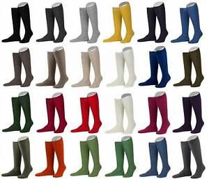 Lusana Kniestrümpfe Trachtenstrümpfe Strümpfe Socken zum Dirndl Lederhose 1 Paar