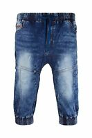 Men Denim Jogger Shorts Jean Elastic Waist 4 Pocket Blue Short Sizes 30-40