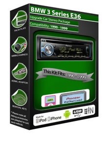 BMW-3-Series-E36-Lecteur-CD-Pioneer-Autoradio-Plays-Ipod-IPHONE-Android-USB