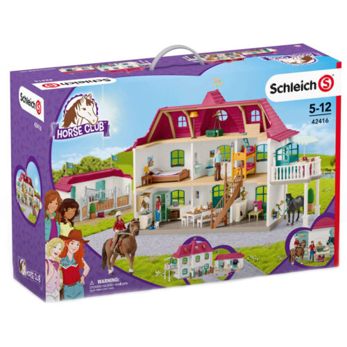 Schleich Horse Club Grand Cheval stable avec house et stable Playset