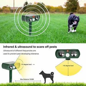 Pest Possum Animal Pigeon Birds PEST Repeller Ultrasonic+Motion Sensor+Strobe