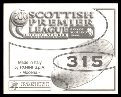 Panini Scottish Premier League 2000 el estadio Motherwell no 315