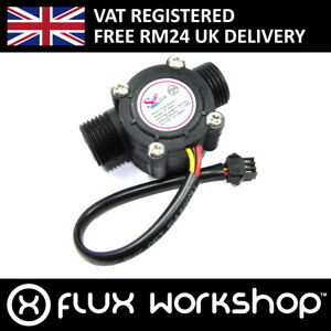 Details about Hall Effect Flow Meter YF-S201 Hydroponic Water 0-30lpm  Arduino Pi Flux Workshop