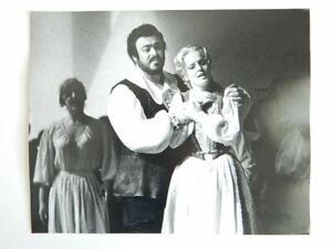 Foto Originale Fotografo Zoe Dominic Opera Luciano Pavarotti 1978