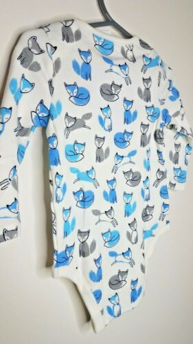 Details about  /New BabyGap Fox Long Sleeve Shirt 3-6 /& 6-12 Month Blue /& Gray Ships Free