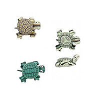 Set Of 3 Big Assorted Color Handmade Polymer Clay Turtle Clay Drop Charm Beads
