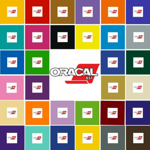 Every Colour Self Adhesive Matte Polymeric Oracal 651 A4 Vinyl Sheets