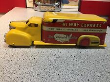 Vintage 1930's MARX TOYS Pressed Tin Litho Plymouth Hi Way Express Box Truck