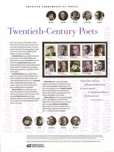 890-45c-Forever-20th-Century-Poets-4654-4663-USPS-Commemorative-Stamp-Panel