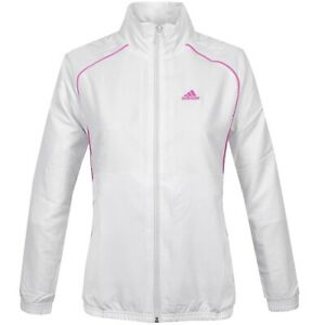 Details about Adidas Womens Track Jacket Tennis Jacket Windbreaker Sports Jacket WhitePink show original title