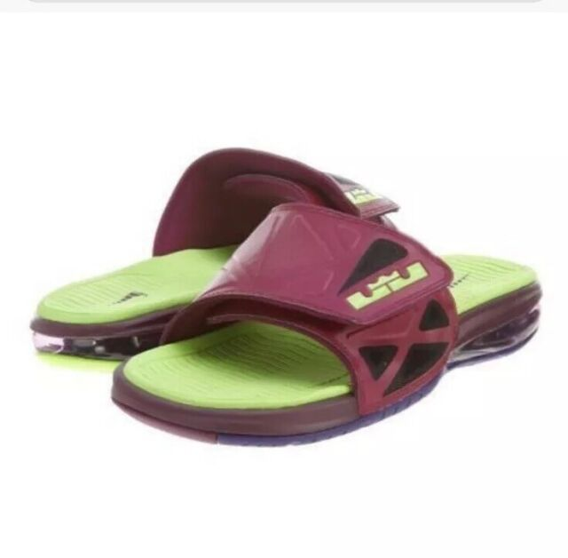 on sale 09213 4c263 New Nike Air Max Lebron 2 Slide Elite Raspberry Red Sandals 578251 630 Size  9