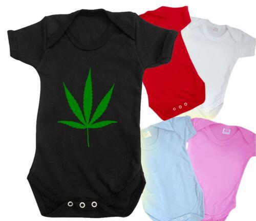 Canabis bebé crezca Body Gracioso Lindo Bong Conjunto Camiseta Bnwt