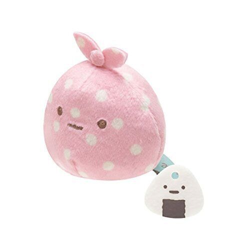 San-x Sumikko Gurashi Plush 2'' Wrapping Cloth w/ Mini Rice Ball