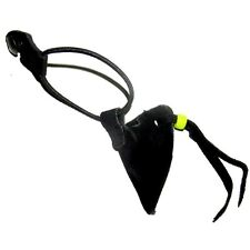 ARCHERY TRADITIONAL LEATHER BOW STRING KEEPER  AA402B BLACK