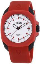 Nixon The Ruckus White Dial Red Polyurethane Men's Watch A349209