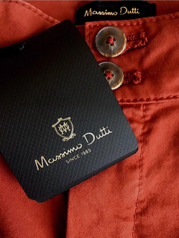 New Massimo Dutti Women's Wide Leg Trouser Pants Burgundy Size 6