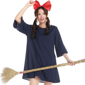7895ba0644b89 Kiki's Delivery Service Halloween Dress Blue Anime Cosplay Fancy ...