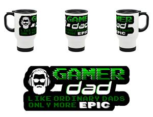 Epic Gamer Papa-Video Gaming Père Idée Cadeau-Acier Thermo Tasse De Voyage