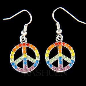 Image Is Loading W Swarovski Crystal 60 039 S Rainbow Peace
