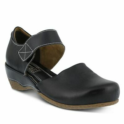 Spring Step L'artiste Glanz Mary Jane Leder Holzschuhe Schwarz Sufficient Supply Women's Shoes
