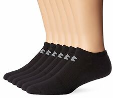 d0e4aae31cb Under Armour Mens Charged Cotton 2.0 No Show Socks 8 Pack Medium ...