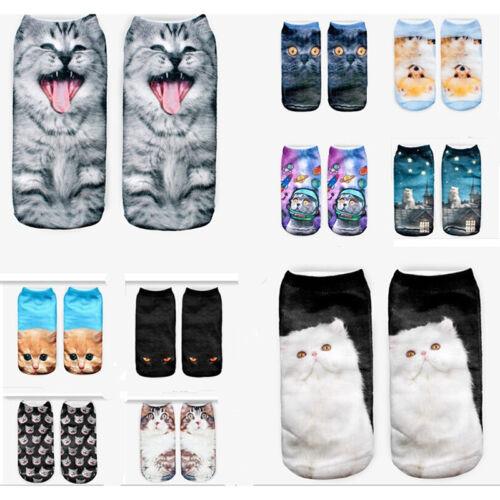3DPrinted Animal Women Casual Lovely Socks Cute Cat Unisex Low Cut Ankle SocksSN