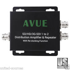 SD/HD/3G-SDI 1 to 2 Distribution Amplifier & Repeater w/ Relocking Function