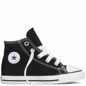 b6c0f8a5969 Converse Star Hi Top Black White Baby Infant Toddler Boys Girls ...