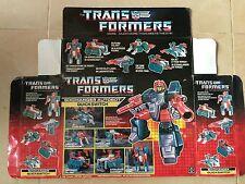 Transformers G1 1987 QUICKSWITCH (empty) BOX  hasbro takara MB european