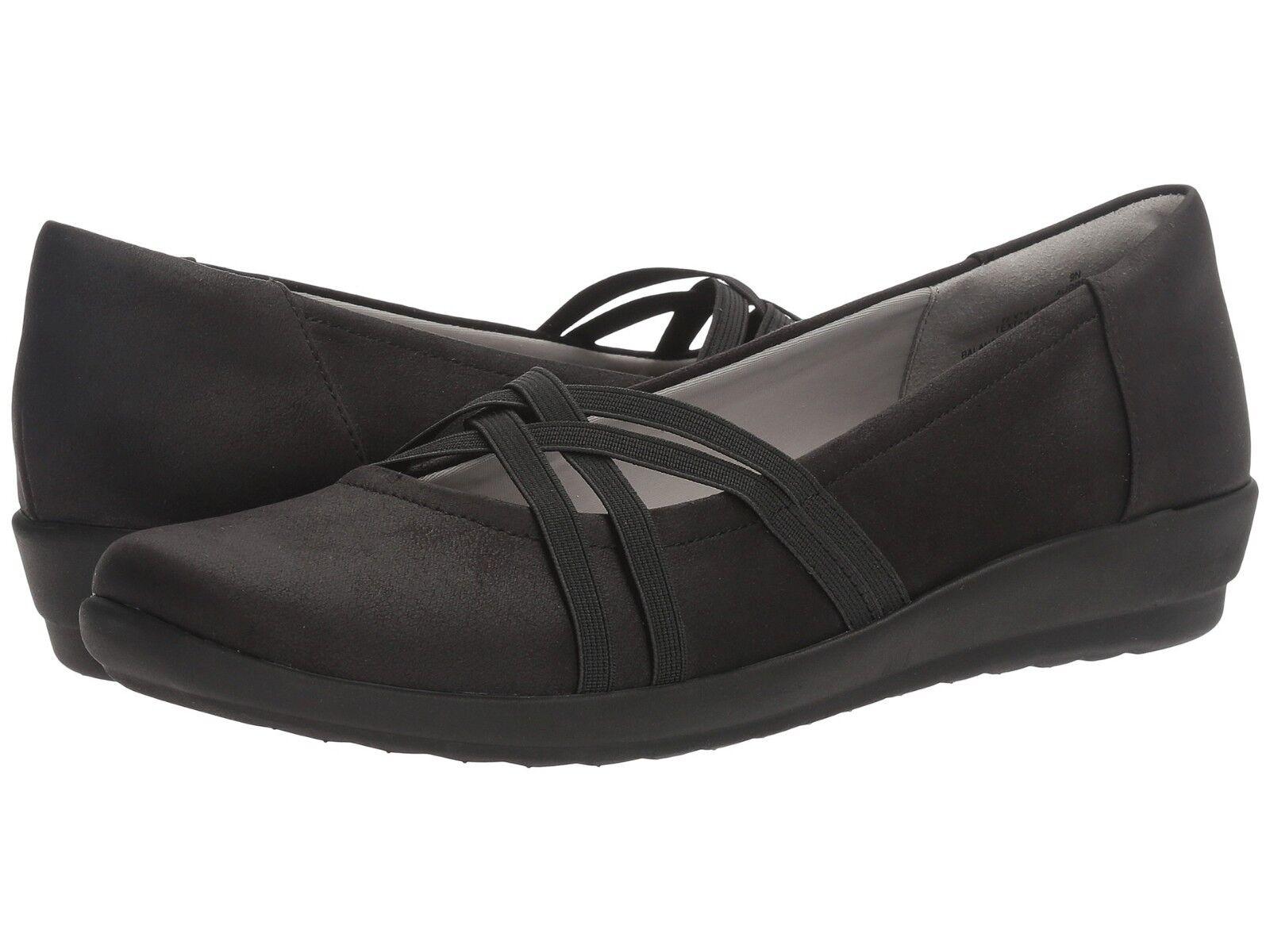 $79 - EASY SPIRIT Women's AUBREE 2 (Black) CASUAL FLATS / SHOES  - 6 M