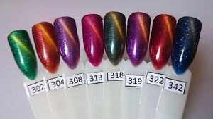 Image Is Loading RNK Magnetic Glitter Cat Eye Gel Polish Nail